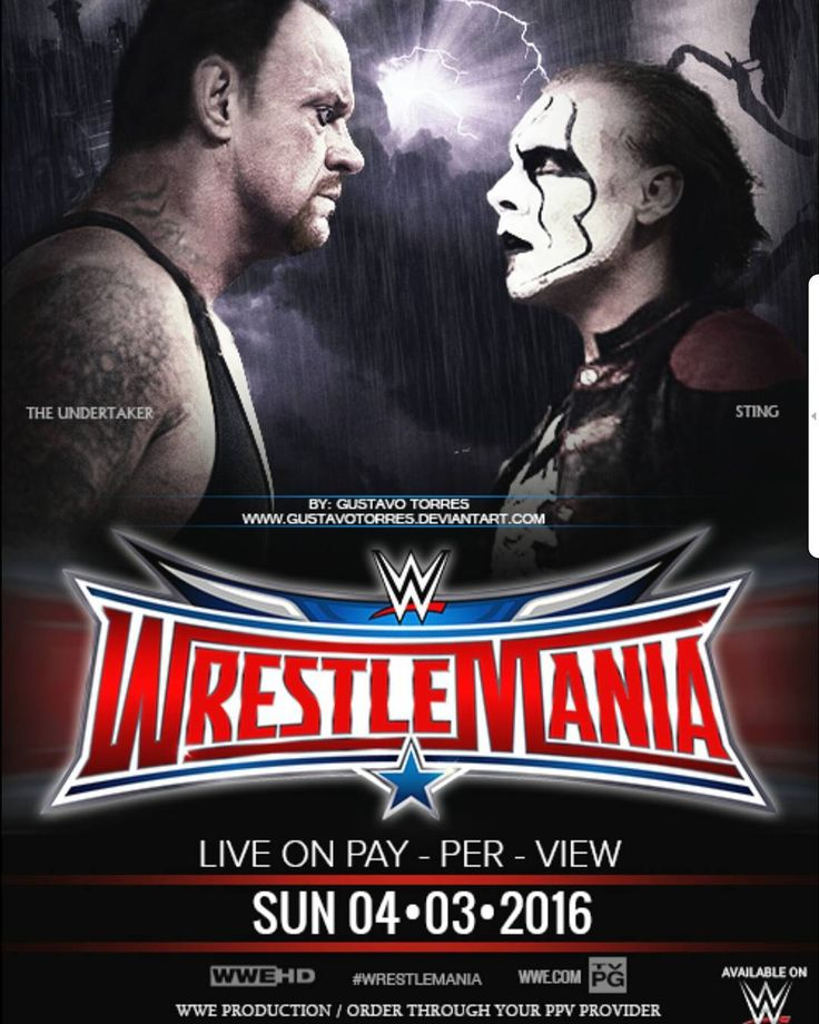 COME WATCH WRESTLEMANIA 32 THIS SUNDAY APRIL 3RD ON PPV @julietscastleyyc #WWE #PPV #wrestlemania #wrestlemania32 #wrestling #wcw #nwo #yyc #event #sting #undertaker #tripleh by julietscastleyyc