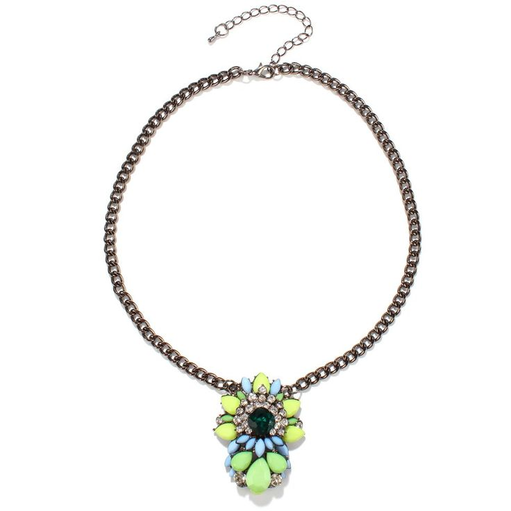 Graceful Faux Crystal Layered Floral Necklace For Women #men, #hats, #watches, #belts, #fashion, #style