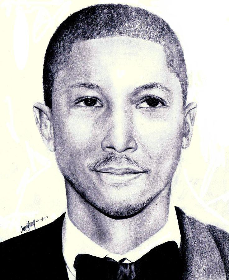 Pharrell Williams by MonsterIntheCloset22 #NERD #pharrell #art #portrait