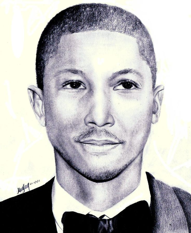 Pharrell Williams by MonsterIntheCloset22 #NERD #pharrell #art #portrait
