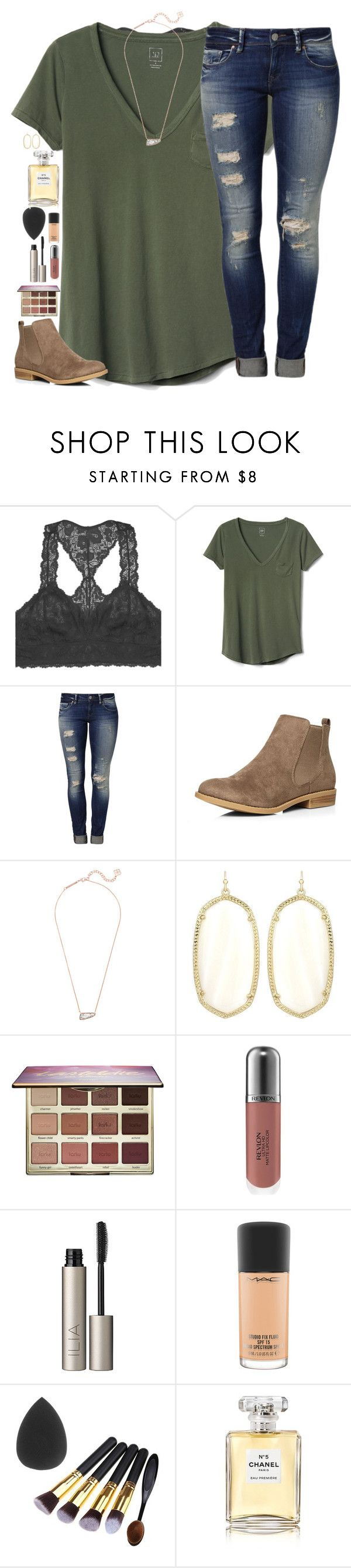 """Untitled #1661"" by southernstruttin ❤ liked on Polyvore featuring Youmita, Gap, Mavi, Dorothy Perkins, Kendra Scott, tarte, Revlon, Ilia, MAC Cosmetics and Chanel"