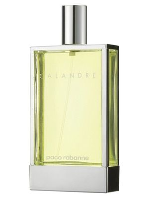Calandre was launched in 1969. This feminine fragrance is very difficult to sort into a certain group of fragrances. Citrusy uplift of bergamot in the top notes follows the floral heart with white rose, pelargonium and hyacinth. The base is woody, powdery, with intensive musky notes.