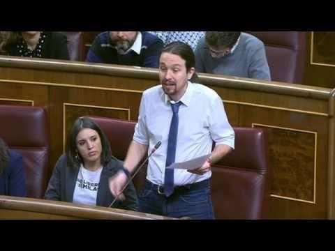 Pablo Iglesias apabulla Mariano Rajoy con recuento casos corrupción del PP
