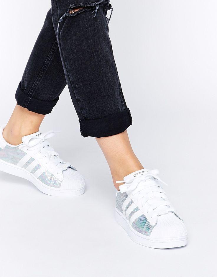 Iridescent Adidas superstars actually exist on ASOS, heaven! http://asos.do/QHOrHz
