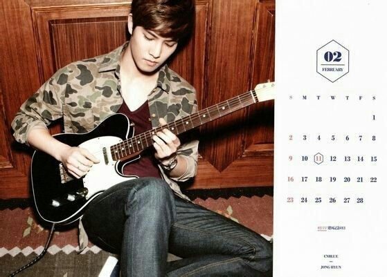 CNBLUE Calendar 2014 February
