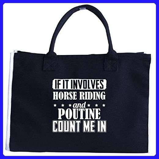 If It Involves Horse Riding And Poutine Count Me In - Tote Bag - Top handle bags (*Amazon Partner-Link)