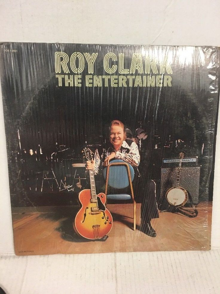 ROY CLARK LP - DOT DOS12001 The Entertainer (1974) Shrink