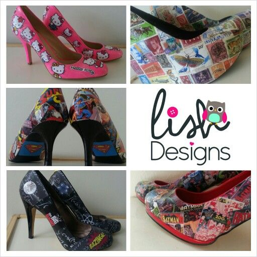 Customised shoes available from Lish Designs (see facebook)