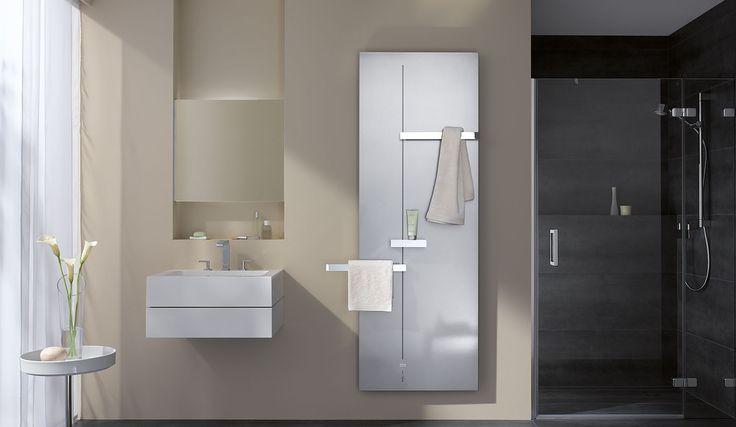 Kermi Fedon Design Und Badheizkorper In Modernem Badezimmer Handtuchhalter Bad Ablage Dusche Moderne Heizkorper
