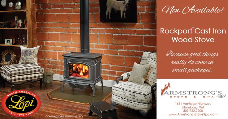 Rockport Cast Iron Wood Stove - Armstrong's Stove & Spa