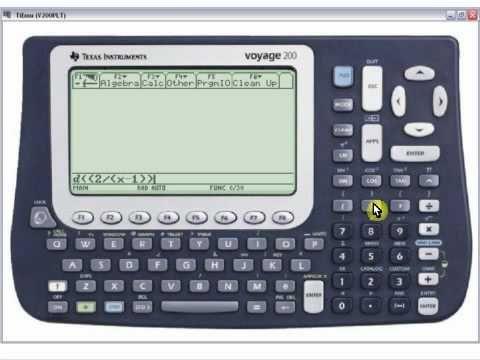 Cálculo Diferencial - Cómo Derivar en la Calculadora Texas Instruments Voyage 200