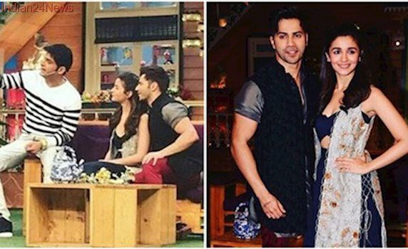 Badrinath Ki Dulhania: Varun Dhawan and Alia Bhatt paint The Kapil Sharma Show red. See pics