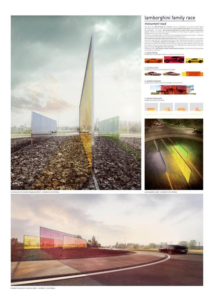 Lamborghini Road Monument Competition HONOURABLE MENTION