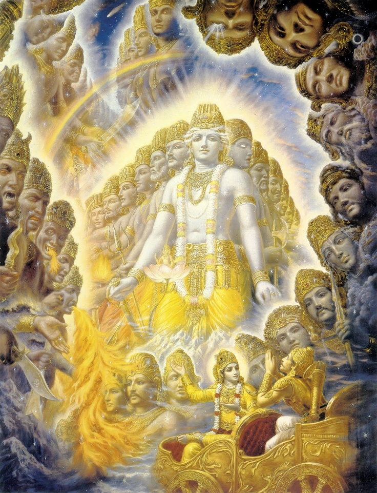 BHAGAVAD GITA {11 , 40}  नमः पुरस्तादथ पृष्ठतस्ते नमोऽस्तु ते सर्वत एव सर्व।   अनन्तवीर्यामितविक्रमस्त्वंसर्वं समाप्नोषि ततोऽसि सर्वः ॥   My salutations to You from front and from behind. O Lord, my obeisance to You from all sides. You are infinite valor and the boundless might. You pervade everything, and therefore You are everywhere and in everything. (11.40)