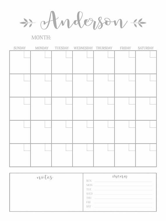 Dry Erase Calendar Printable Chalkboard Dry Erase Cutomizable Etsy Dry Erase Calendar Dry Erase Calendar Printable Calendar Printables