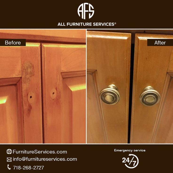 Kitchen Cabinet Door Repair Maintenance Finish Peeling ...