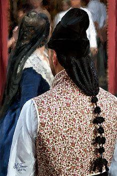 Valencian couple in traditional dresses by Juan Carlos Ferro Duque. http://fineartamerica.com/featured/valencian-couple-in-traditional-dresses-juan-carlos-ferro-duque.html