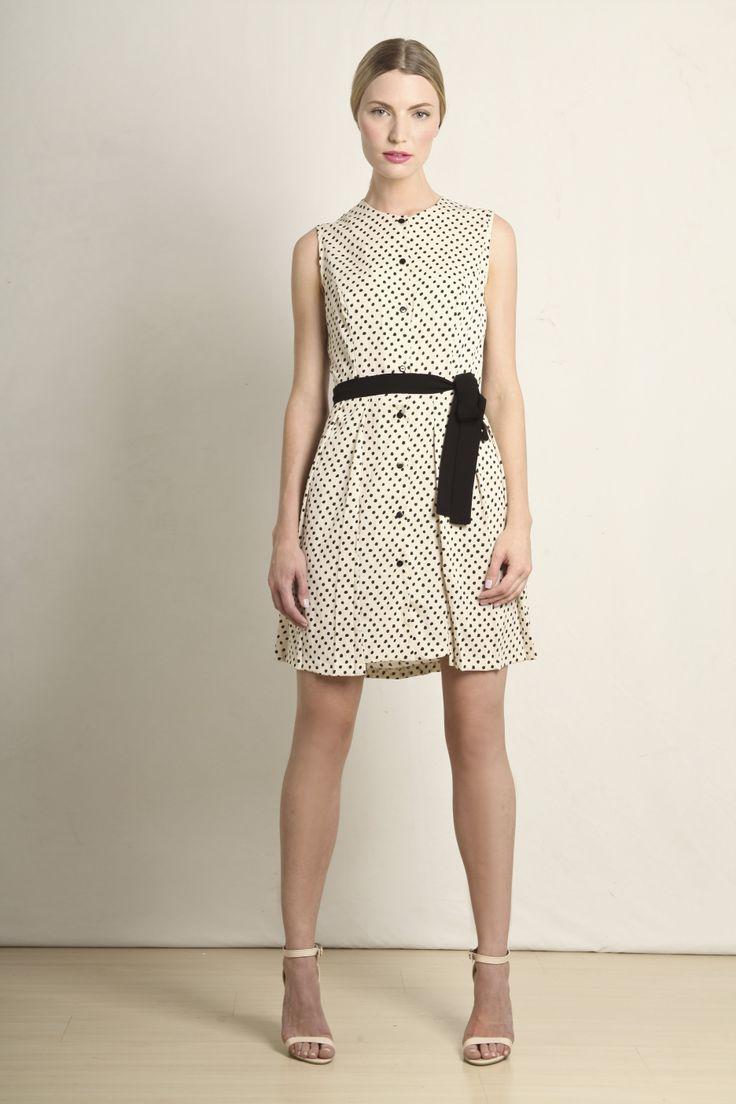 Margot dress in cream and black polka dot  GB203-CBS  R740.00  www.georgieb.com