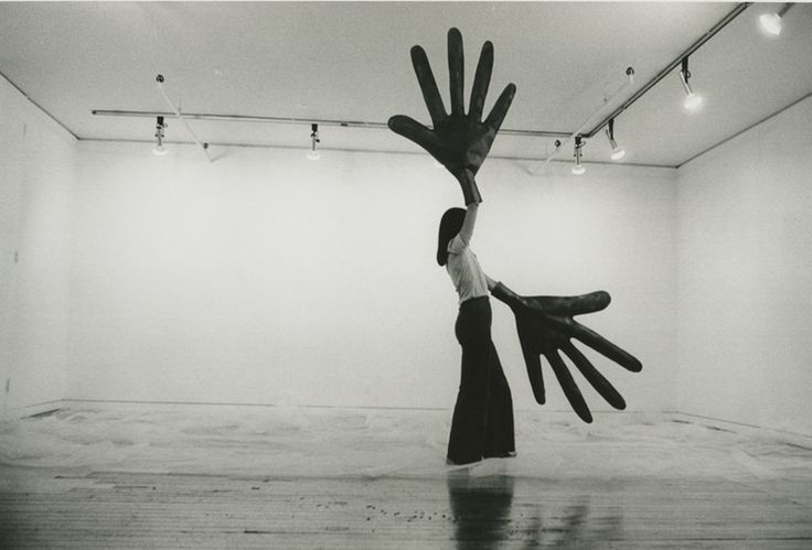 Sylvia Palacios Whitman (b. 1941), Passing Through, performance at Sonnabend Gallery, New York, May 20, 1977.