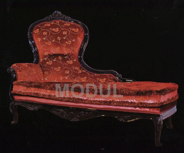 Угловой диван из красной ткани Mice 3054