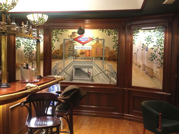 hotel mayorazgo, pintor mayorazgo hotel, mural madrid callao, skyline pintado