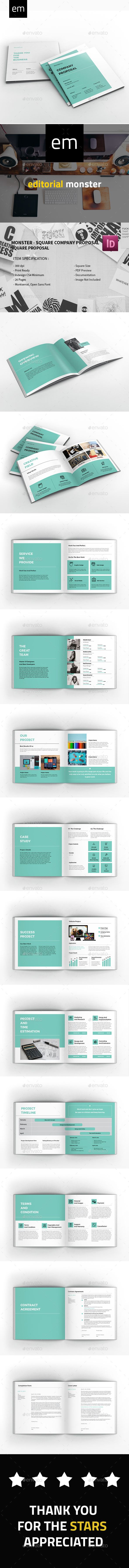 Monster - Square #Company #Proposal - Corporate #Brochures Download here: https://graphicriver.net/item/monster-square-company-proposal/20370713?ref=alena994