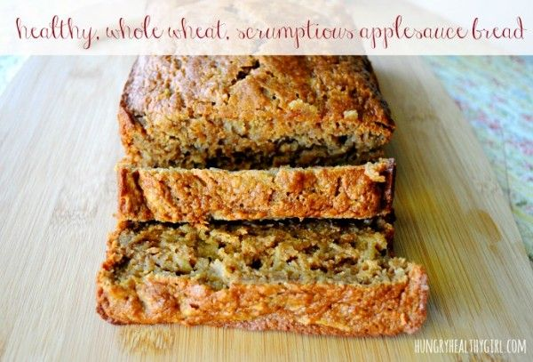 Whole wheat applesauce bread - The most scrumptious healthy bread from @Kim Lee