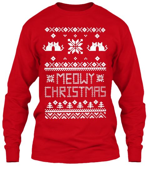 Ugly christmas Sweater! Just Kitten
