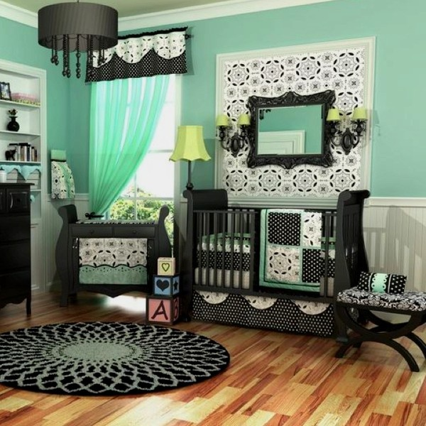 Baby room love the mint green future babys room pinterest mint green kid and colors for Black bedroom ideas pinterest