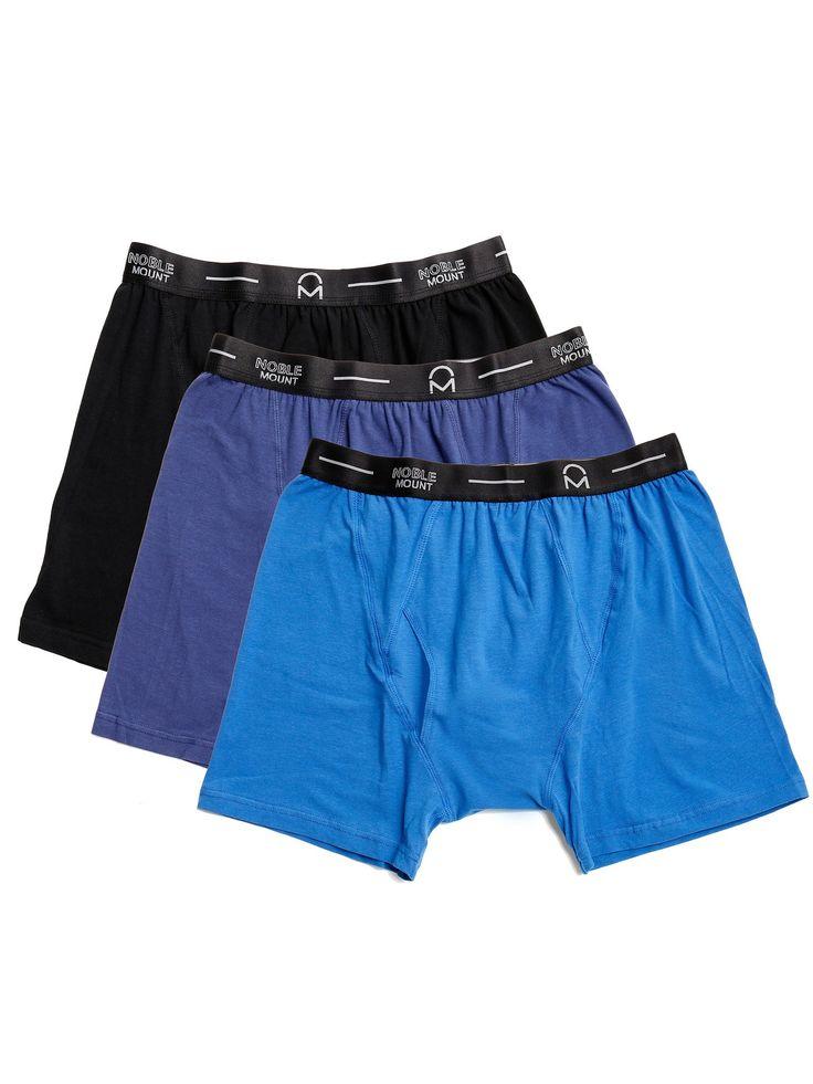 Men's Stretch Cotton Knit Boxer Briefs 3-Pack