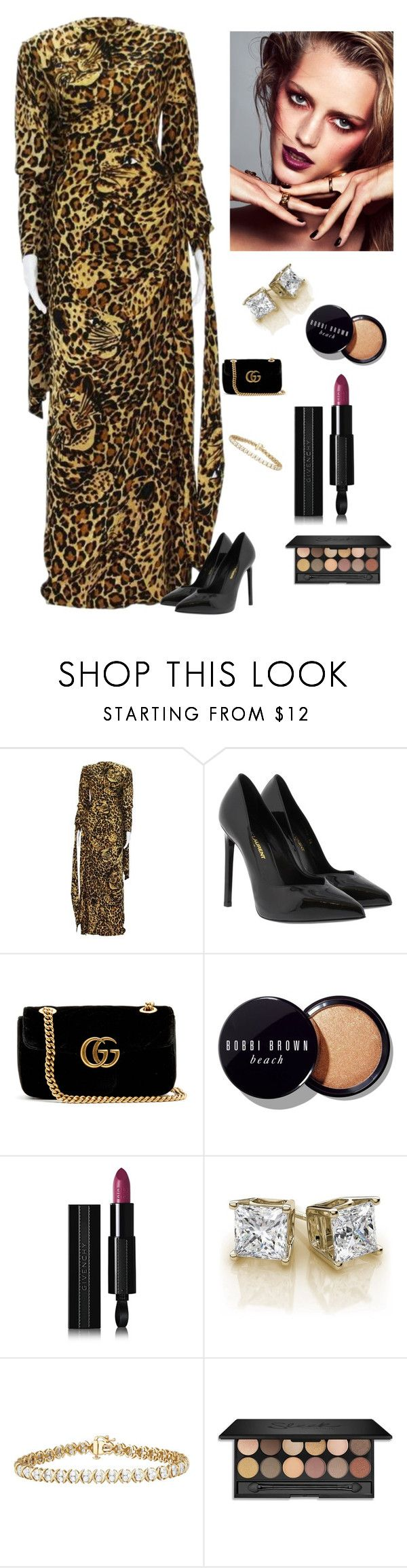 """""""Classy yet Elegant"""" by kotnourka ❤ liked on Polyvore featuring Yves Saint Laurent, Gucci, Bobbi Brown Cosmetics and Givenchy"""