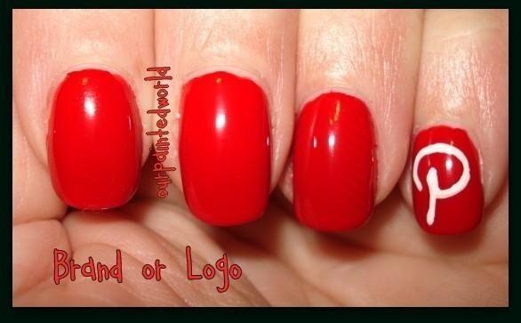 My nod to Pinterest via manicure nails ideas #IHeartMyNailArt