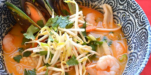 Seafood tom yum soup