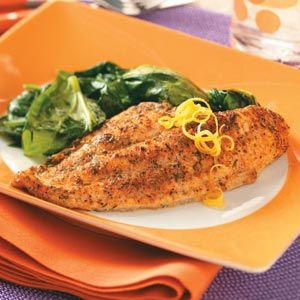 Baked Herb Catfish Recipe -Spice up August, National Catfish Month, with these well-seasoned fillets. A healthy twist on batter-fried catfish, the baked entree cuts the calories and saves the flavor. —Kathy Giannone, West Henrietta, NY