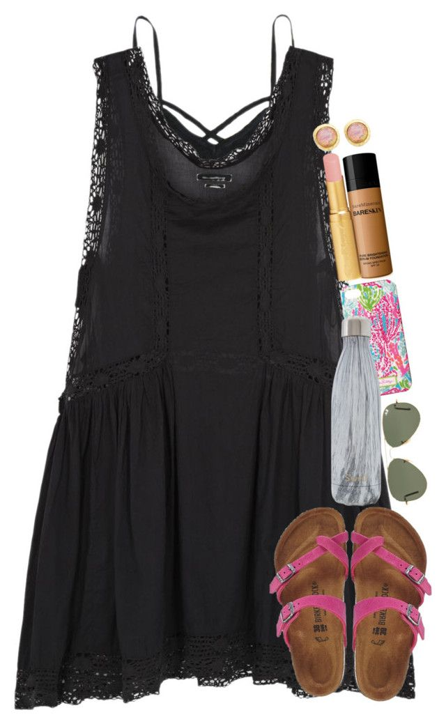 """had a great goal in lacrosse game today"" by thefashionbyem ❤ liked on Polyvore featuring Étoile Isabel Marant, Birkenstock, Lilly Pulitzer, S'well, Ray-Ban, Bare Escentuals, Too Faced Cosmetics and Kenneth Jay Lane"
