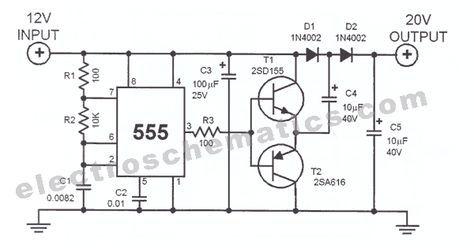 555 voltage doubler circuit schematic   Electronics—Schematics in