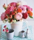 Deco Ideas with Roses: Roses Bouquet: Kunter-Bund   LIVING AT HOME Floral Arrangement …  – Wohnaccessoires