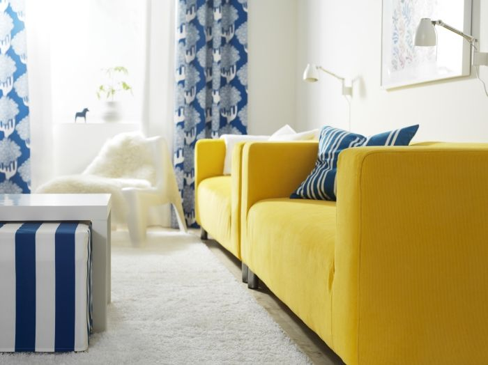 Change Your Sofa And Room As Often As You Change Your Mood With. Yellow  CouchYellow PillowsYellow BedspreadLiving ...