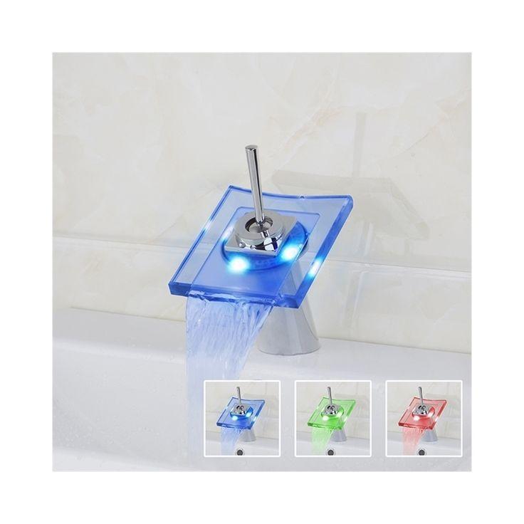 3色LEDバス・洗面蛇口 温度センサー付