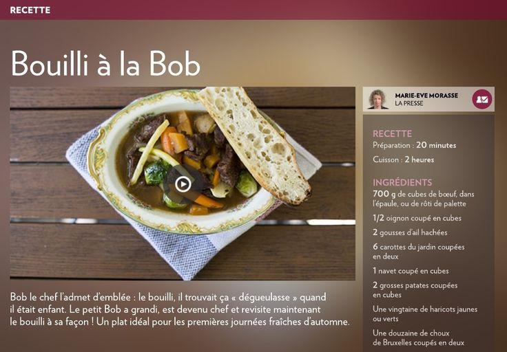 Bouilli à la Bob - La Presse+
