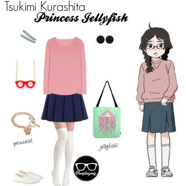 Casual cosplay of tsukimi kurashita from princess jellyfish anime series character inspired outfit