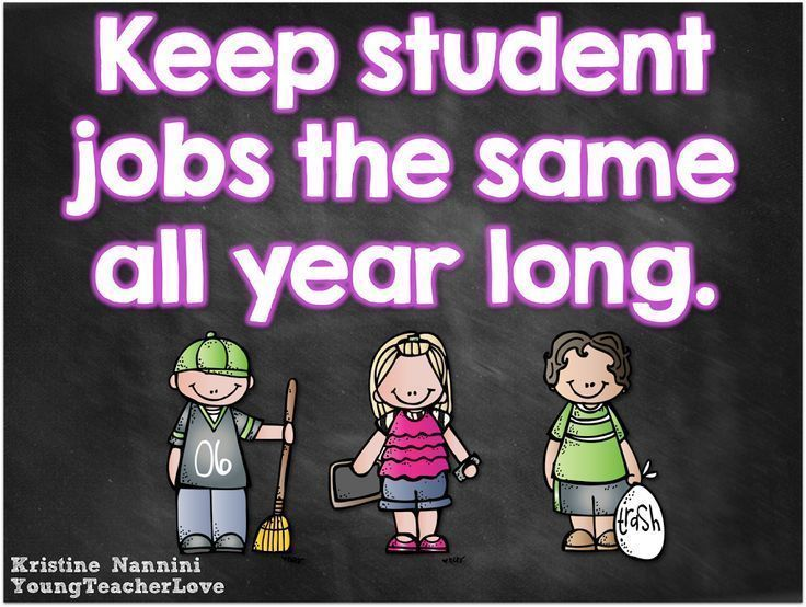 Keep students in the same jobs all year long for better classroom management! -Young Teacher Love by Kristine Nannini
