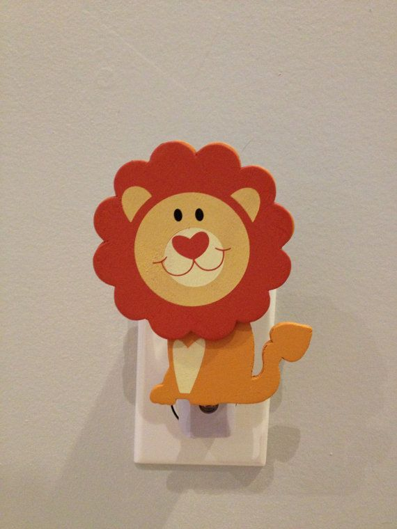 Lion Night Light - Noahs Ark Nursery - Baby Shower Gift - Jungle Nursery - Safari Nursery - Lionheart - ONE long lasting LED night light