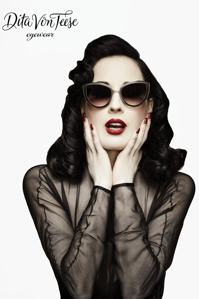 A visual for Dita Von Teese Eyewear. [Photo by Lionel Deluy and John Juniper]