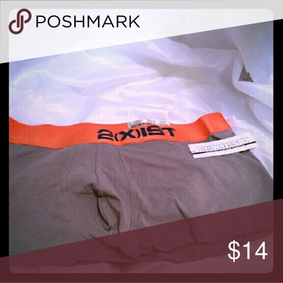 2 XIST Size L Gray & Orange Boxer Brief Trunk NWT New with tags 2XIST gray with wide orange logo waistband. They are what I call the short trunk style boxer brief. 2xist Underwear & Socks Boxer Briefs