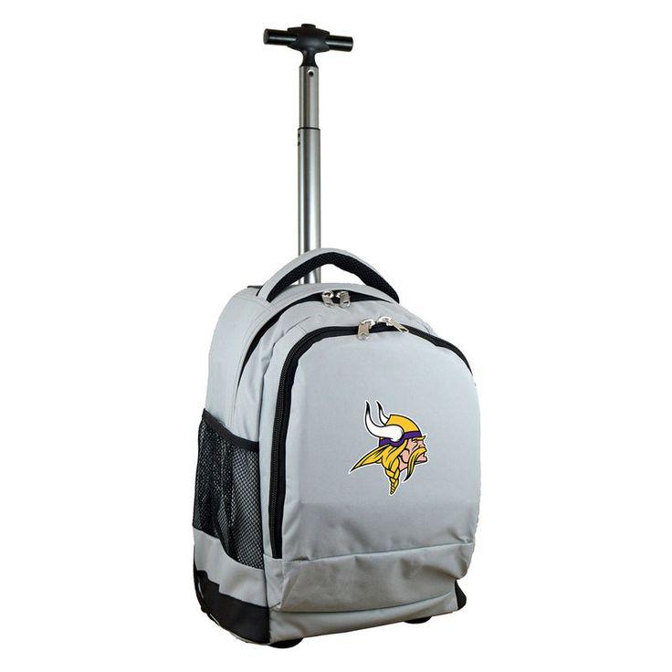 Minnesota Vikings 19'' Premium Wheeled Backpack - Gray
