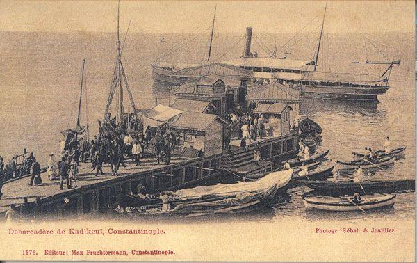 Bir zamanlar İSTANBUL, Kadıköy iskelesi, 1903 (kartpostal)