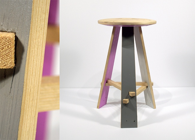 Part of the design and production of the Gowlett stool for Hendzel+Hunt, London.