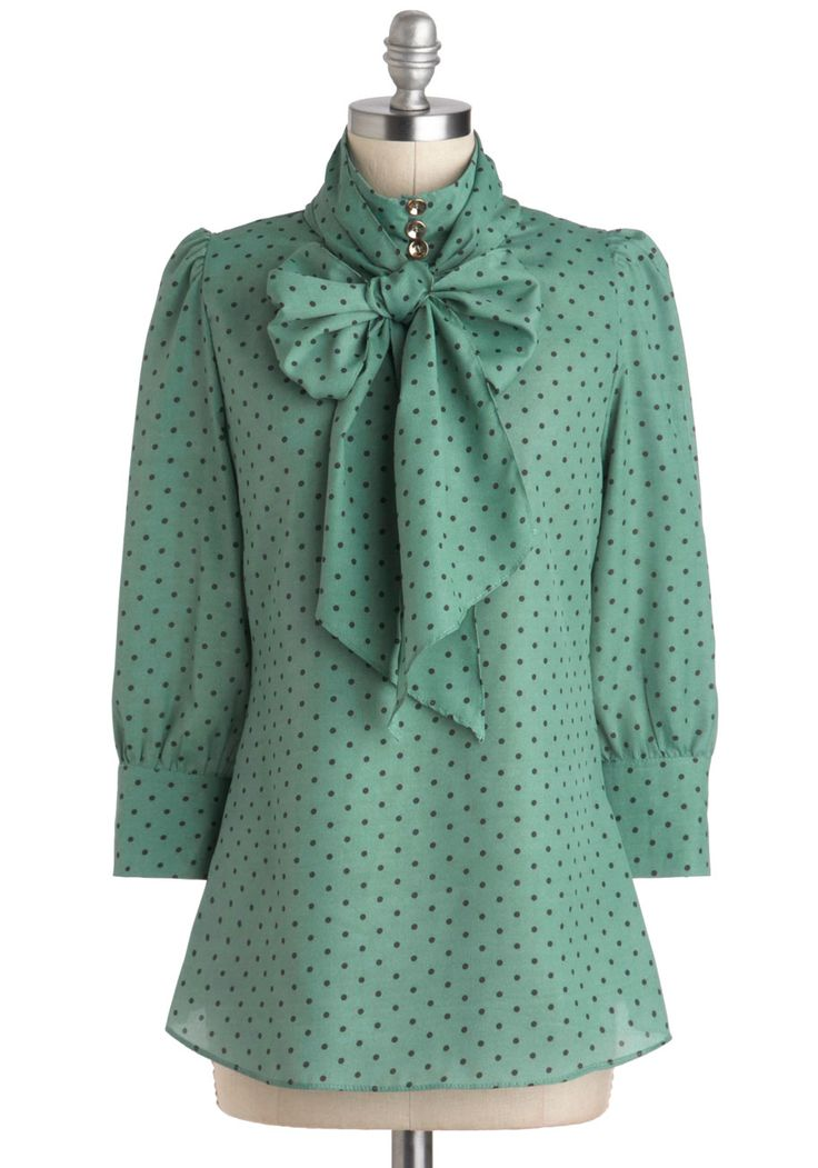 Print Journalist Top in Wintergreen - via ModCloth. I'd pair this with my dark…