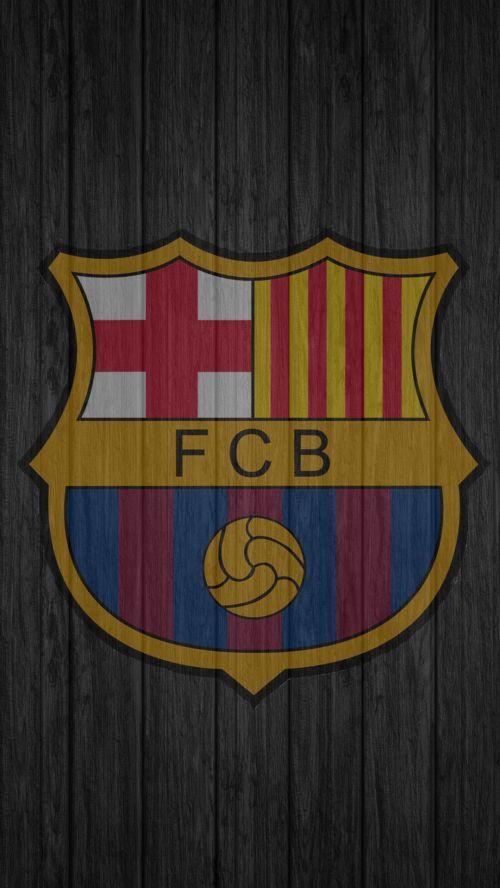 File attachment for Apple iPhone 6 Plus HD Wallpaper - Barcelona FC Logo in dark background